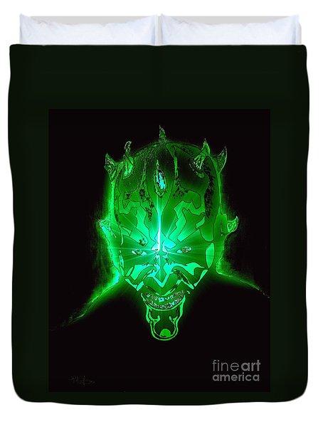 Darth Maul Green Glow Duvet Cover