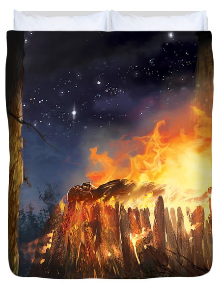 Darth Vader's Funeral Pyre Duvet Cover