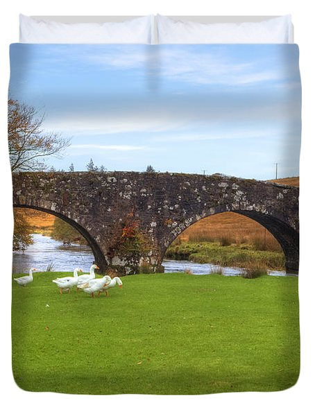 Dartmoor - Two Bridges Duvet Cover by Joana Kruse
