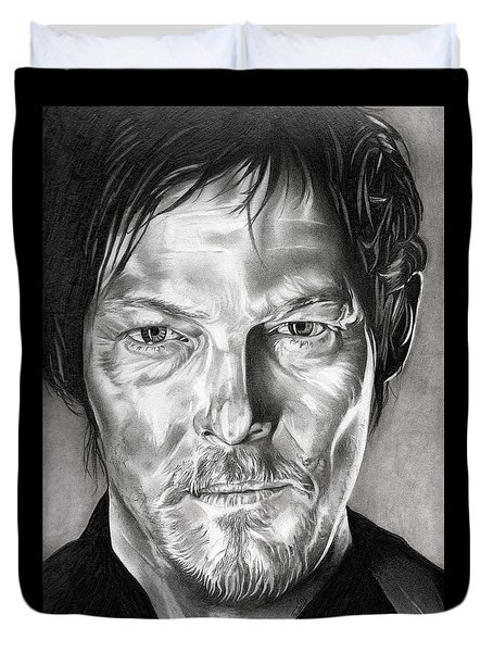 Daryl Dixon - The Walking Dead Duvet Cover by Fred Larucci