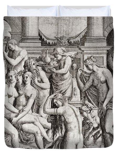 Das Frauenbad, Or The Womens Bath Duvet Cover