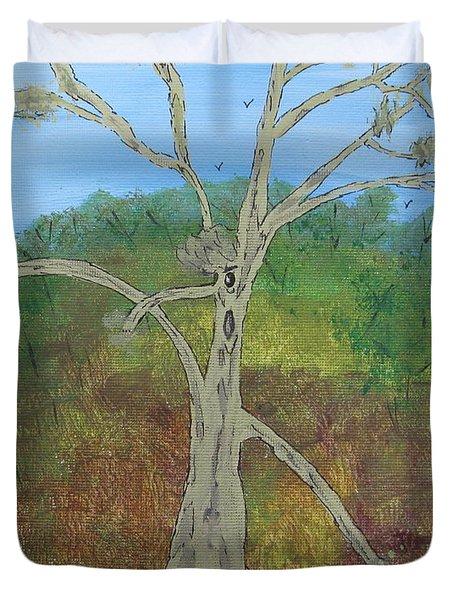 Dash The Running Tree Duvet Cover