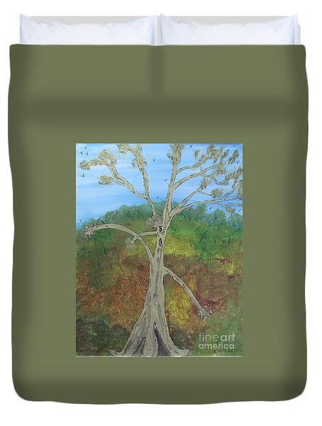 Dash The Running Tree Duvet Cover