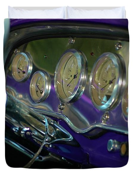 Duvet Cover featuring the photograph Dashboard Glam by Christiane Hellner-OBrien
