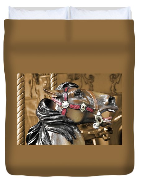 Dashing Horses Duvet Cover by JAMART Photography
