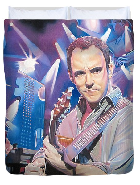 Dave Matthews And 2007 Lights Duvet Cover by Joshua Morton