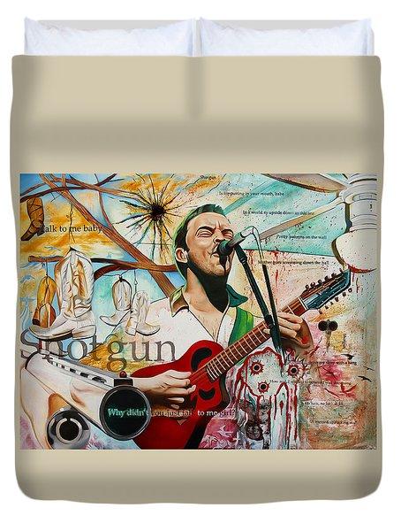 Dave Matthews-shotgun Duvet Cover