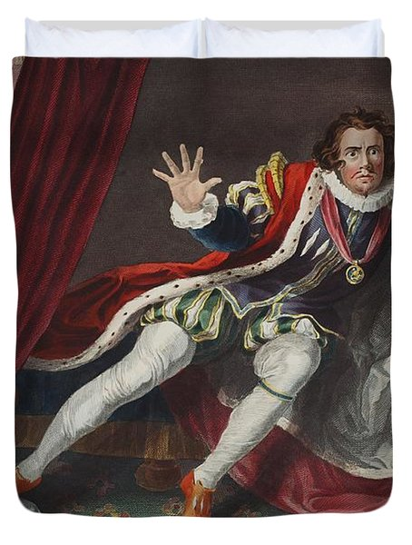 David As Richard IIi, Illustration Duvet Cover by William Hogarth