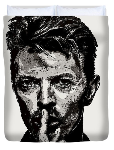 David Bowie - Pencil Duvet Cover
