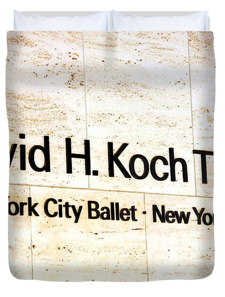 David H. Koch Theater Duvet Cover