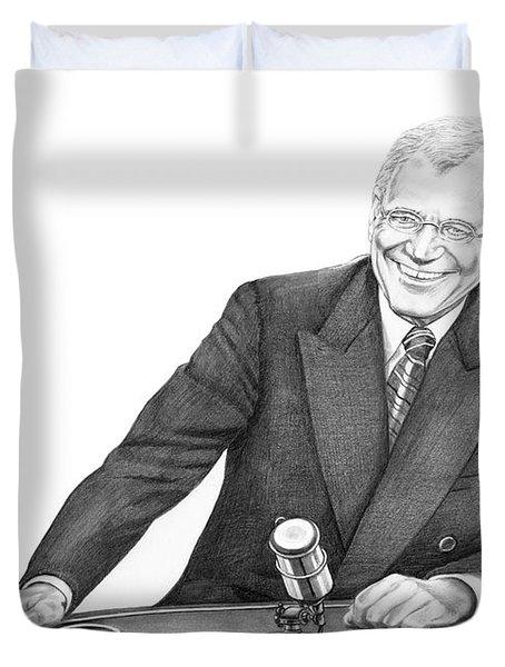 David Letterman Duvet Cover