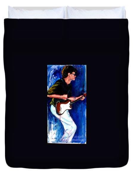 David On Guitar Duvet Cover