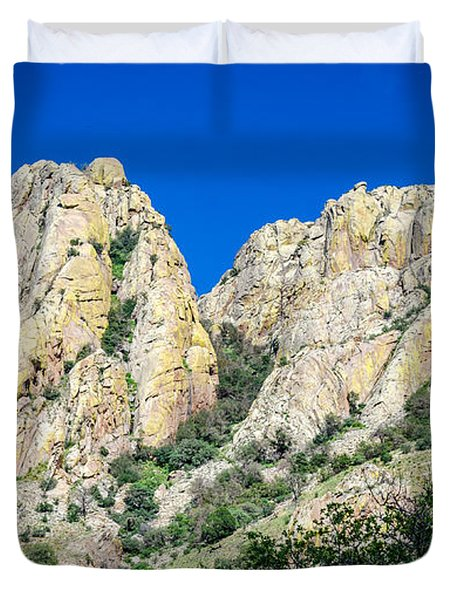 Davis Mountains Of S W Texas Duvet Cover by Debra Martz