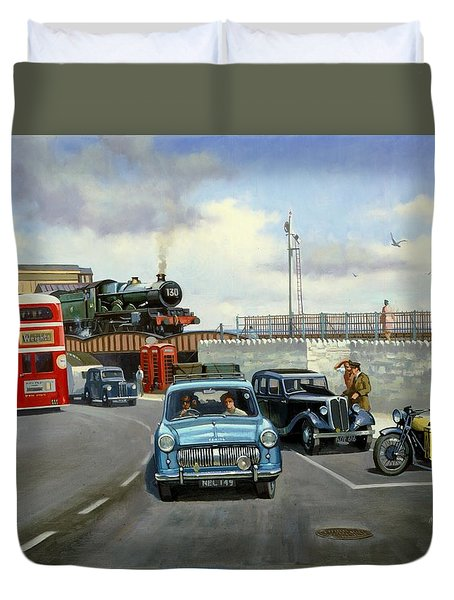 Dawlish Summer. Duvet Cover by Mike  Jeffries