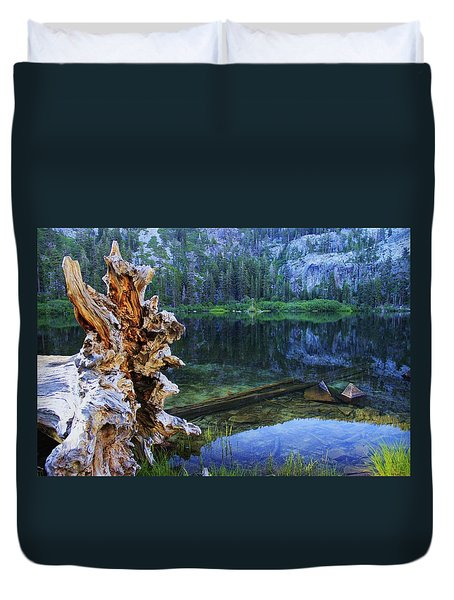 Duvet Cover featuring the photograph Dawn Arrives At Eagle Lake by Sean Sarsfield