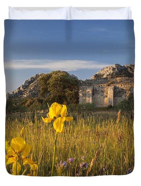 Dawn At Chapelle De Romanin Duvet Cover