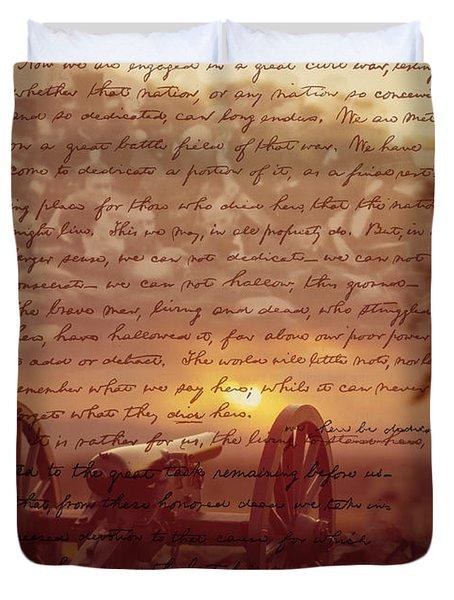 Dawn At Gettysburg Duvet Cover