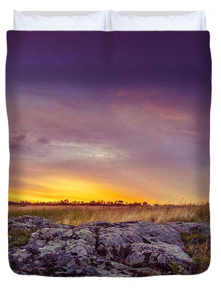 Dawn At Steppe Duvet Cover