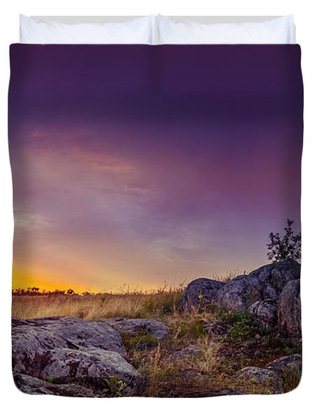 Dawn At Steppe Duvet Cover by Dmytro Korol