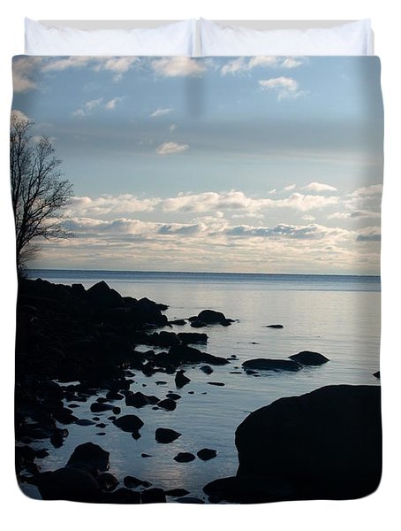 Duvet Cover featuring the photograph Dawn At The Cove by James Peterson