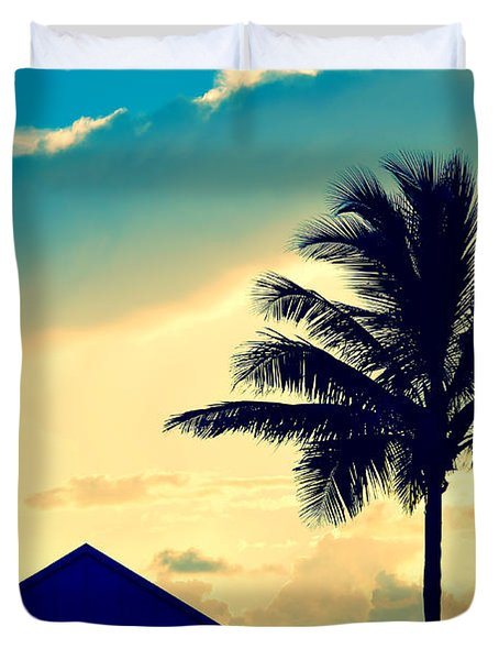 Dawn Beach Pyramid Duvet Cover