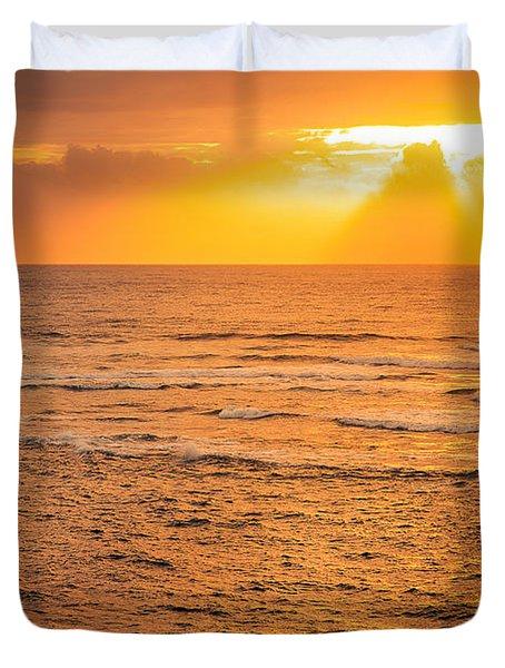 Dawn Fisherman Duvet Cover