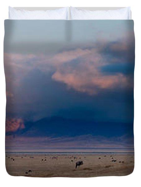 Dawn In Ngorongoro Crater Duvet Cover