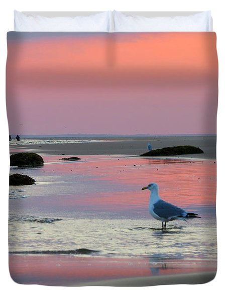 Duvet Cover featuring the photograph Dawn In Pink by Dianne Cowen