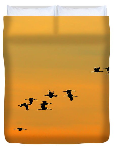Dawn Migration Duvet Cover by Tony Beck