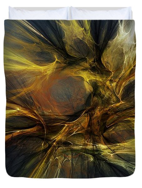 Duvet Cover featuring the digital art Dawn Of Enlightment by David Lane