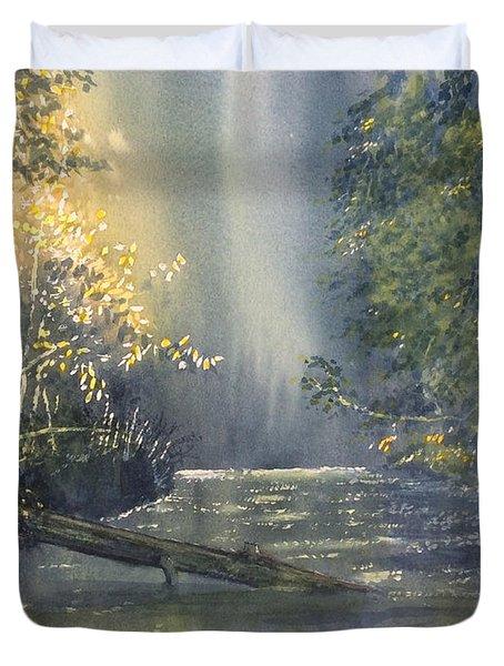 Dawn On The Derwent Duvet Cover