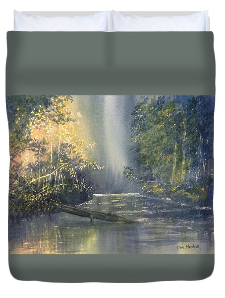 Dawn On The Derwent Duvet Cover