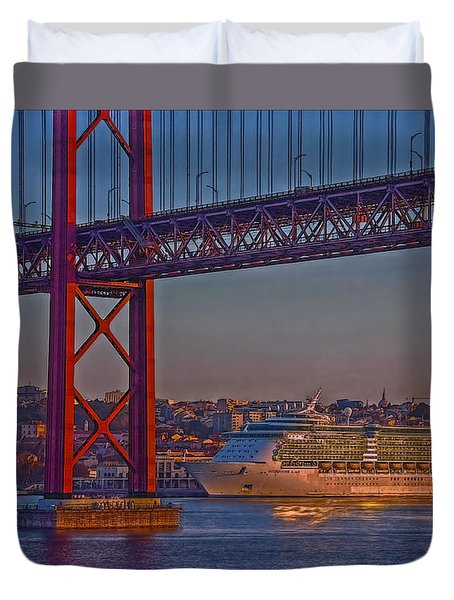 Dawn On The Harbor Duvet Cover by Hanny Heim