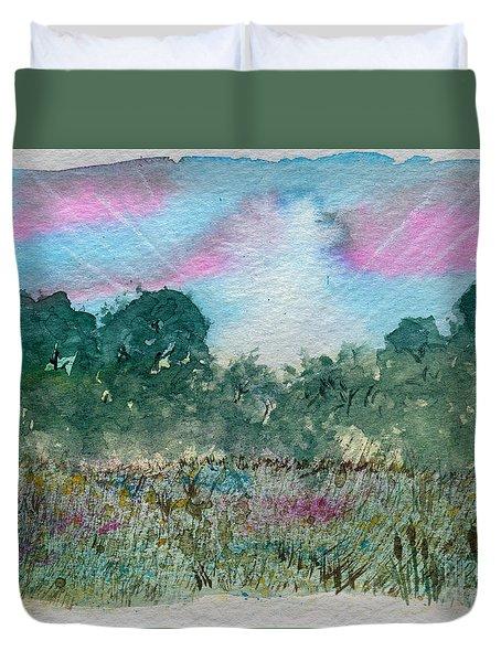 Dawn On The Marsh Duvet Cover