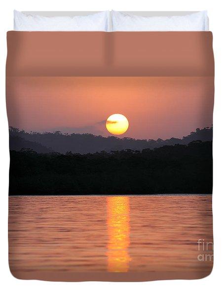 Dawn Over Darien Duvet Cover by James Brunker