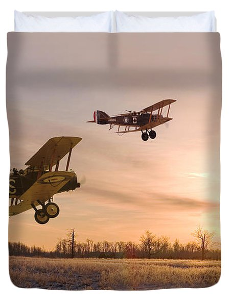 Dawn Patrol Duvet Cover by Pat Speirs