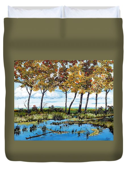 Dawn's Blue Waters Edge  Duvet Cover