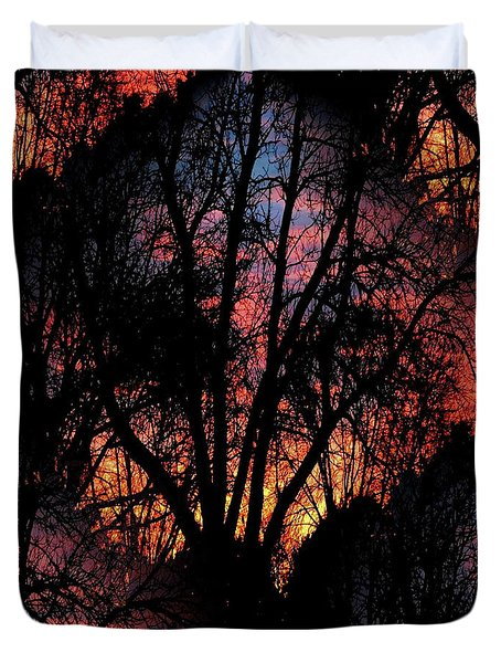 Sunrise - Dawn's Early Light Duvet Cover by Luther Fine Art