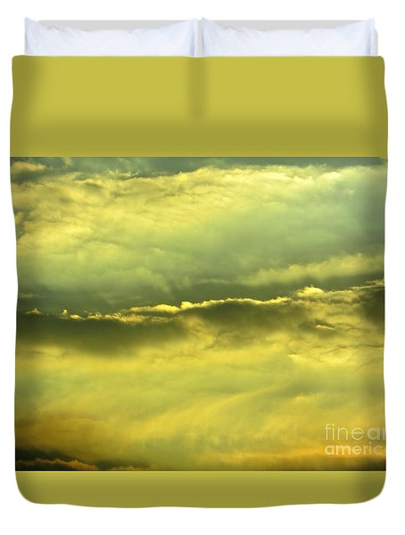Duvet Cover featuring the photograph Day Is Done by Joy Hardee