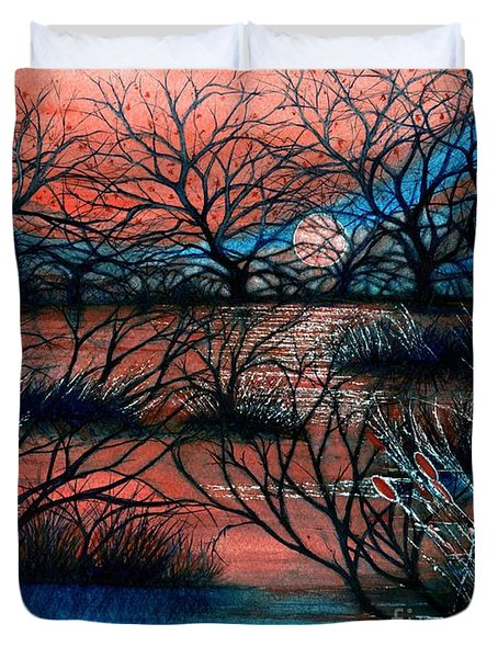 Day Is Done October Sky Duvet Cover by Janine Riley