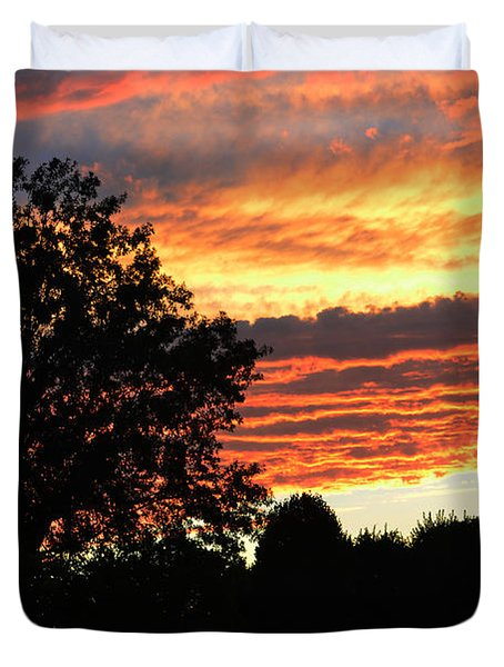 Day Is Done Duvet Cover by Luther   Fine Art
