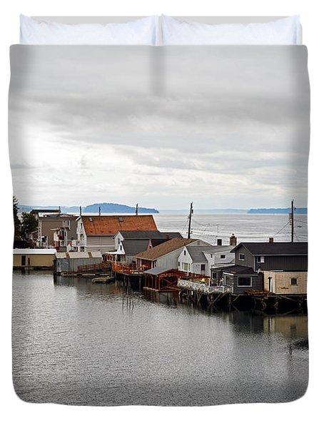 Day Island Bridge View 1 Duvet Cover