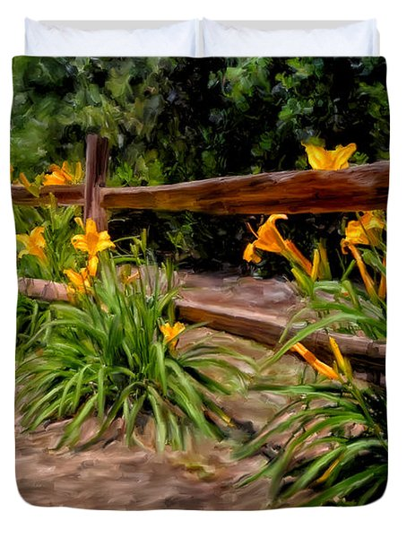 Day Lilies Duvet Cover by Michael Pickett