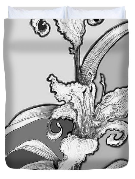 Duvet Cover featuring the digital art Day Lillies by Carol Jacobs