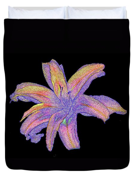 Duvet Cover featuring the photograph Day Lily #3 by Jim Whalen