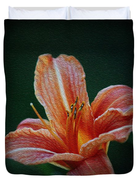 Day Lily Rapture Duvet Cover by Jeanette C Landstrom