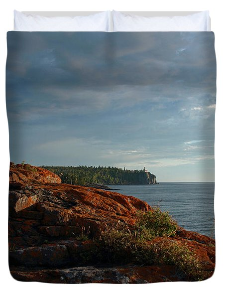 Daybreak At Campsite 19 Duvet Cover