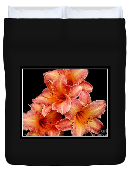Daylilies 2 Duvet Cover by Rose Santuci-Sofranko