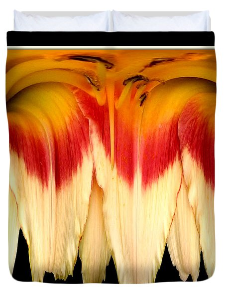 Daylily Flower Abstract 2 Duvet Cover by Rose Santuci-Sofranko