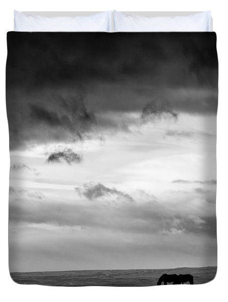 Days End At Hvammstangi Duvet Cover by Dave Bowman